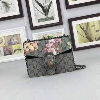 Gucci Mini Dionysus GG Canvas Shoulder Bag 421970 Black