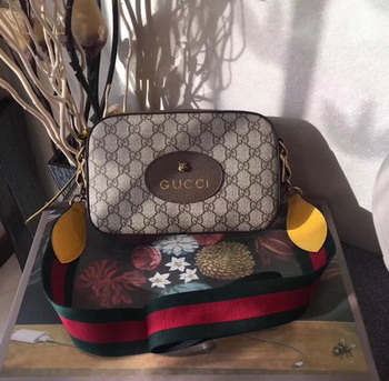 Gucci GG Supreme Messenger Bag 476466 Brown