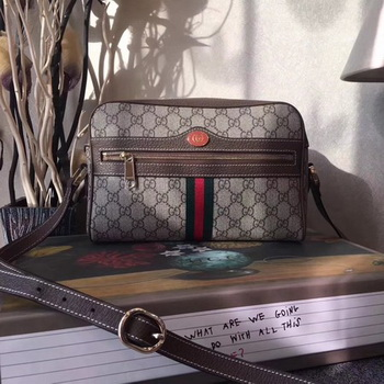 Gucci GG Supreme Messenger Bag 501337 Brown