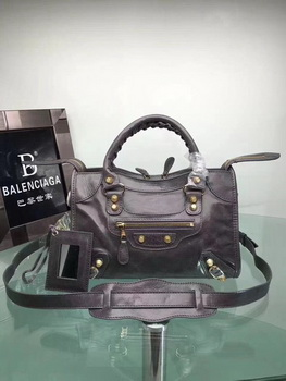 Balenciaga Giant City Gold Studs Handbag 084333 Grey