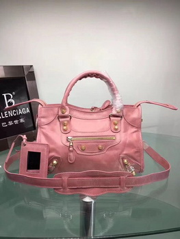 Balenciaga Giant City Gold Studs Handbag 084333 Pink