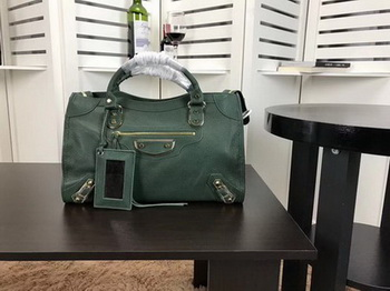 Balenciaga Giant City Gold Studs Handbag B084334 Green