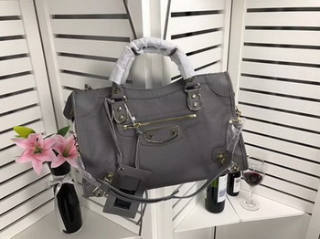 Balenciaga Giant City Gold Studs Handbag B084334 Grey
