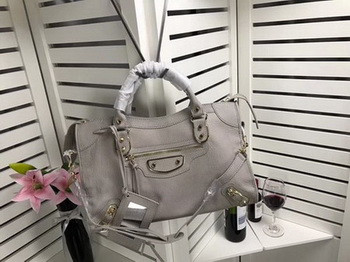 Balenciaga Giant City Gold Studs Handbag B084334 Light Grey