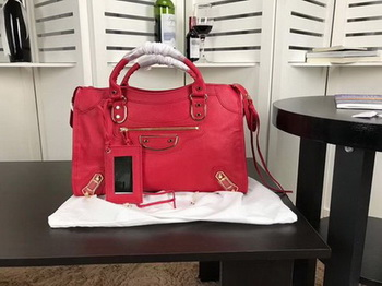 Balenciaga Giant City Gold Studs Handbag B084334 Red