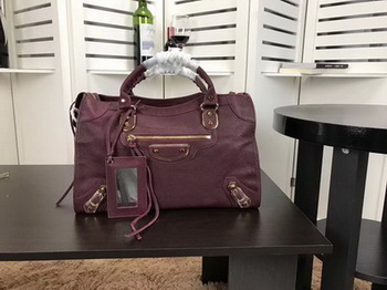 Balenciaga Giant City Gold Studs Handbag B084334 Wine