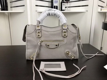 Balenciaga Giant City Gold Studs Handbag B084335 Light Grey