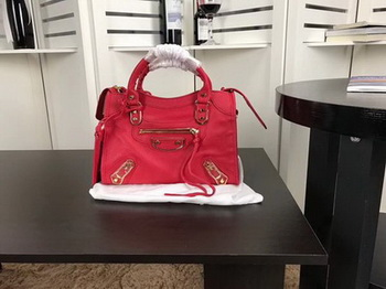 Balenciaga Giant City Gold Studs Handbag B084335 Red