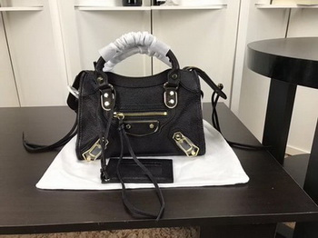 Balenciaga Giant City Gold Studs Handbag B084336 Black
