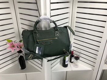 Balenciaga Giant City Gold Studs Handbag B084336 Green