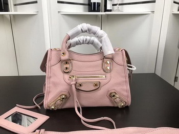 Balenciaga Giant City Gold Studs Handbag B084336 Pink