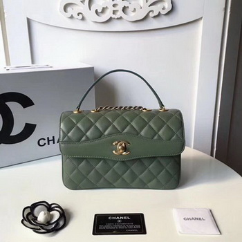 Chanel Classic Shoulder Bag Original Sheepskin Leather A57028 Green