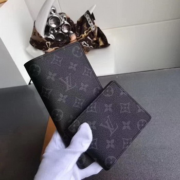 Louis Vuitton Monogram Eclipse Canvas MULTIPLE WALLET M61695