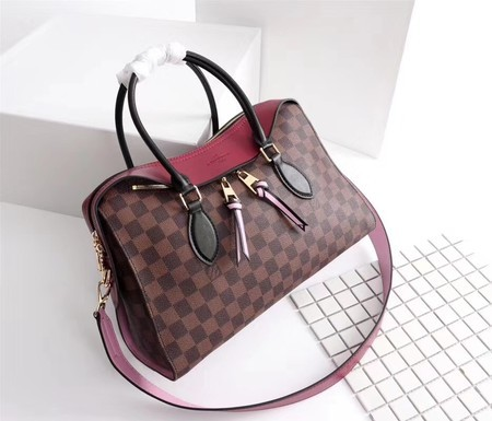 Louis Vuitton Damier Ebene Canvas TUILERIES TOTE Bag M41455A Red
