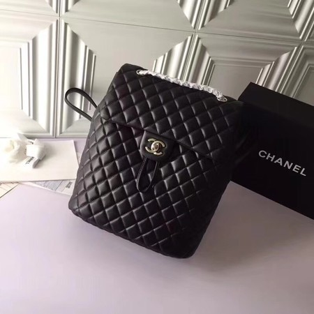 Chanel Backpack Original Sheepskin Leather 91122 Black