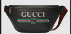 Gucci Original Calfskin Leather Pocket 493869 Black