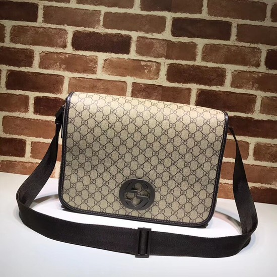 Gucci PVC GG Canvas Messenger Bag 222291 Brown