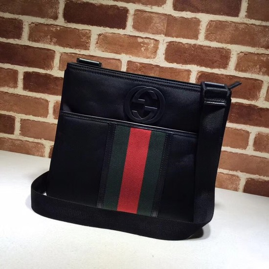 Gucci Canvas Messenger Bag 181067 black