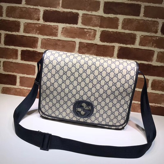 Gucci PVC GG Canvas Messenger Bag 222291 blue