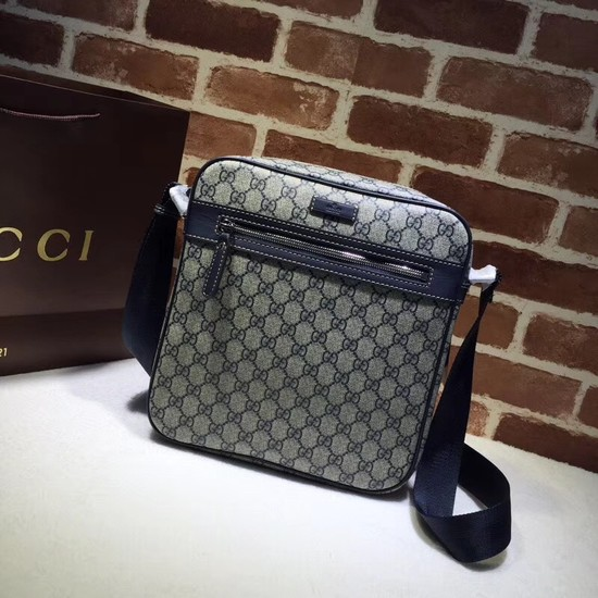 Gucci Courrier GG Supreme Messenger Bag 401448 Blue