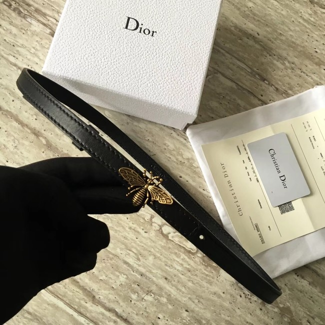 Dior BEE BELT CALFSKIN B0387 black