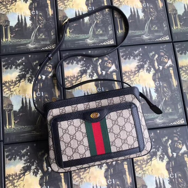 Gucci GG Supreme small shoulder bag 523354 black