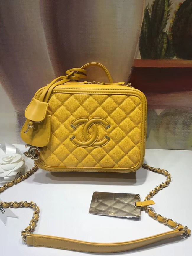 Chanel Vanity Case Original A93343 yellow