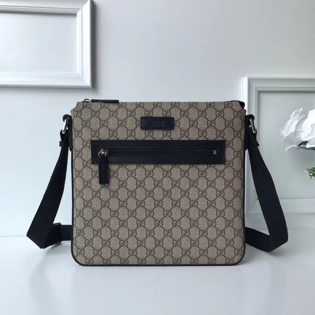 Gucci Courrier soft GG Supreme messenger 406408 black