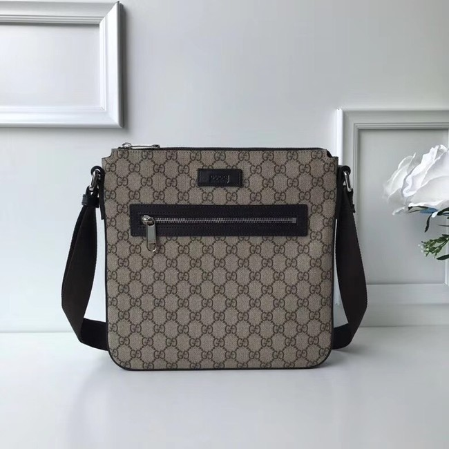 Gucci Courrier soft GG Supreme messenger 406408 brown