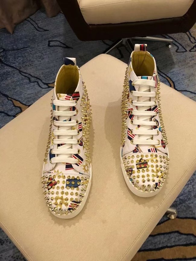 CHRISTIAN LOUBOUTIN Lou Spikes Orlato studded sneakers CL1015