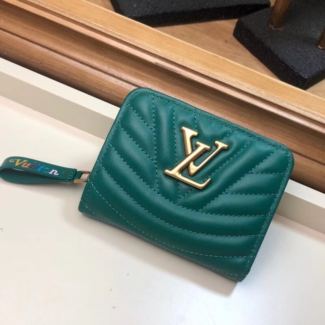 LOUIS VUITTON NEW WAVE COMPACT WALLET M63789 green