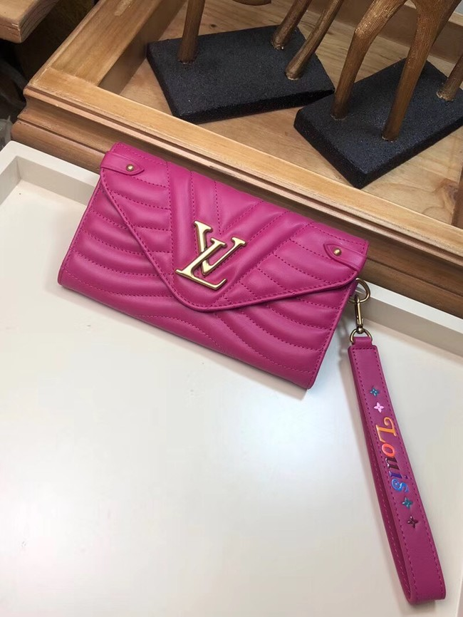 LOUIS VUITTON NEW WAVE LONG WALLET M63298 Peach red