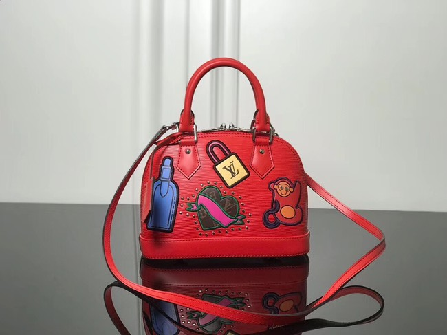 Louis Vuitton original Epi Leather ALMA BB M52481 red