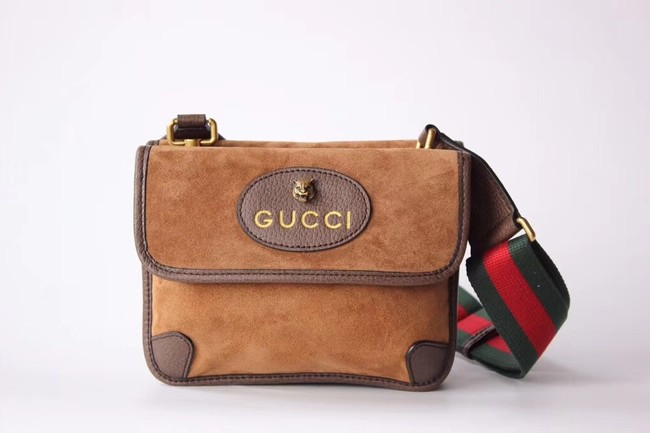 Gucci GG Supreme messenger bag 501050 Chestnut suede