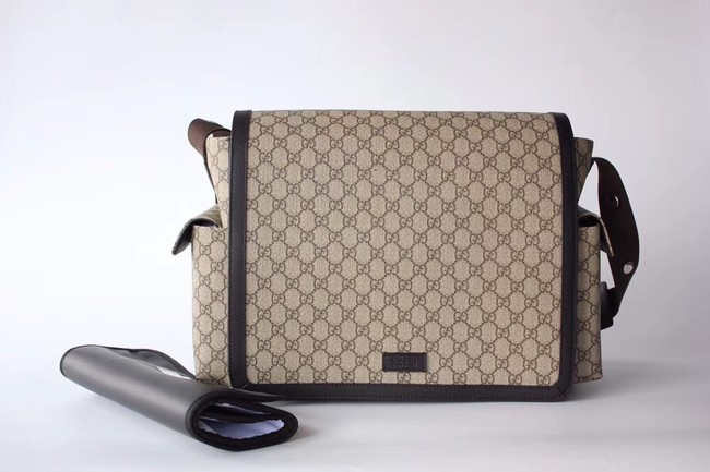 Gucci GG Supreme diaper bag 495909 brown