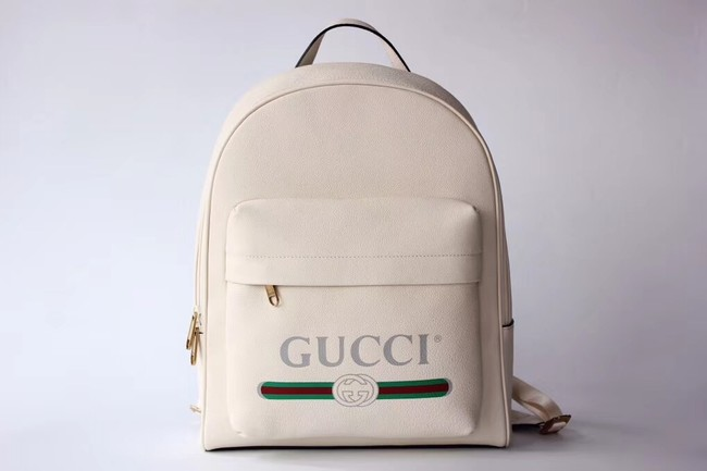 Gucci Print leather backpack 547834 off-white