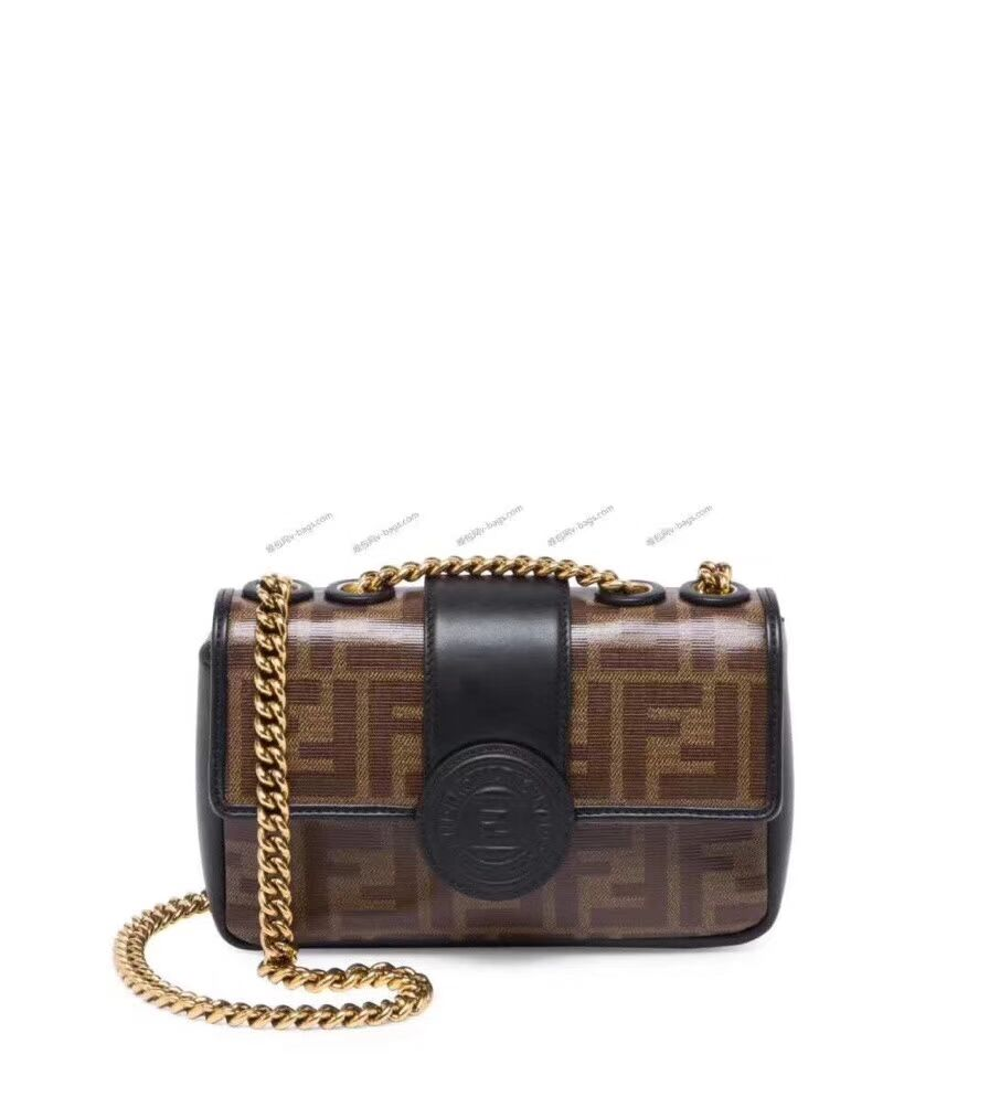Fendi WALLET ON CHAIN 8HF836 black