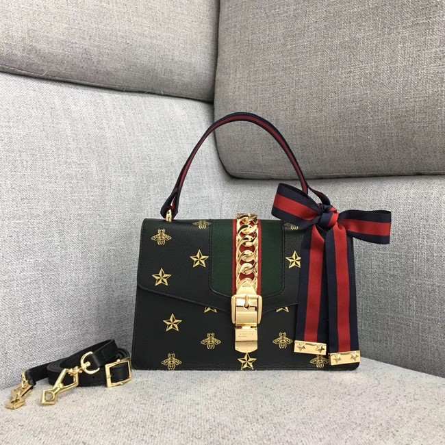 Gucci Sylvie small shoulder bag A421882 black