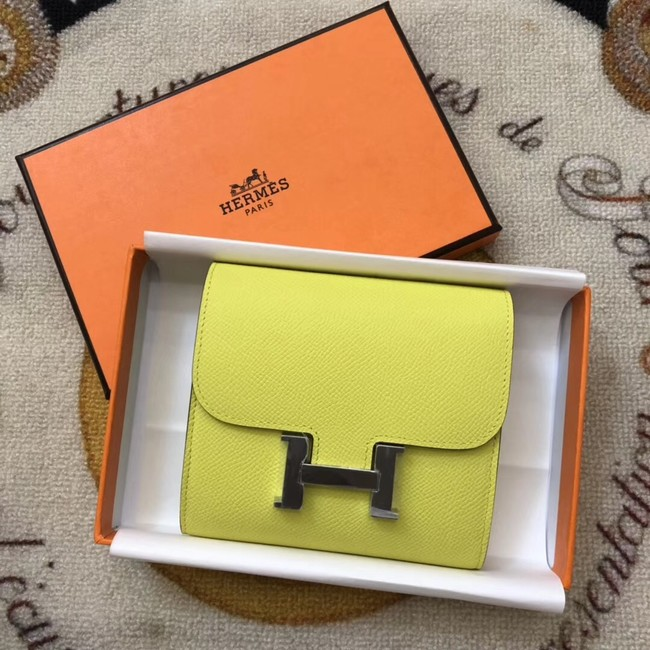 Hermes Constance Wallets espom leather H2297 yellow