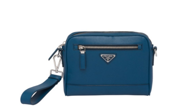 Prada Saffiano leather shoulder bag 2VH063 blue