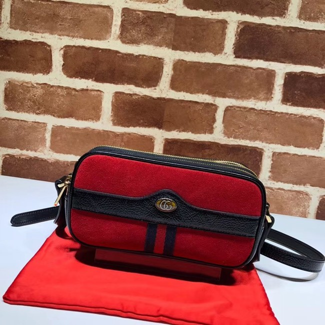 Gucci Ophidia mini GG bag 546597 red velvet
