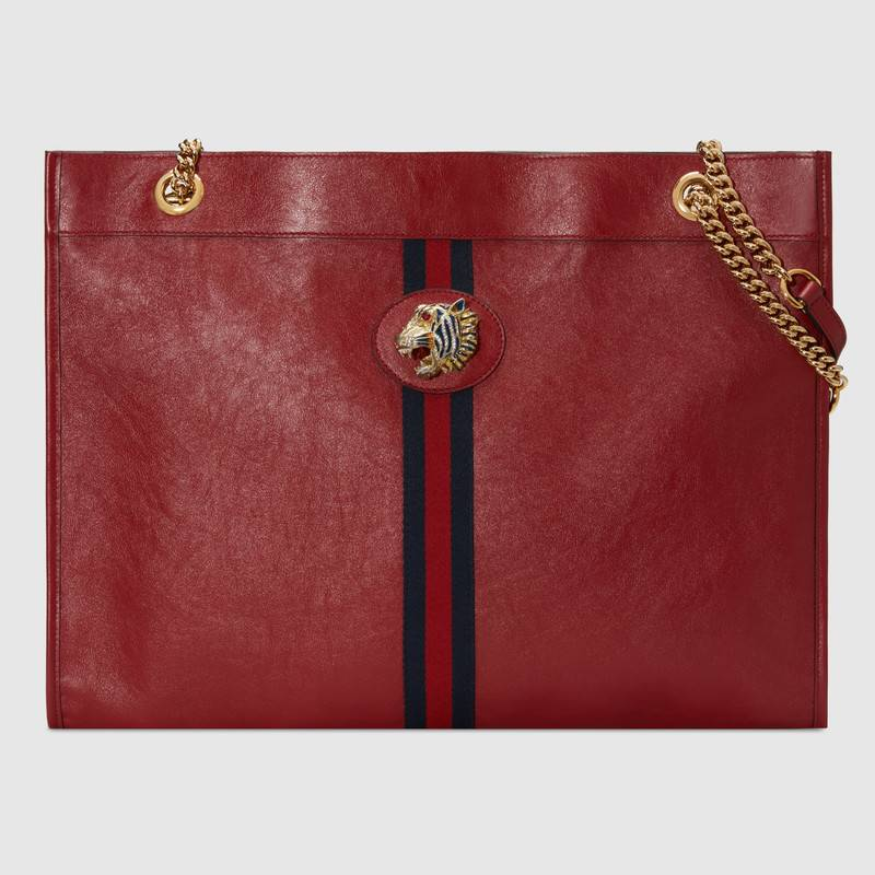 Gucci Rajah large tote 537219 red