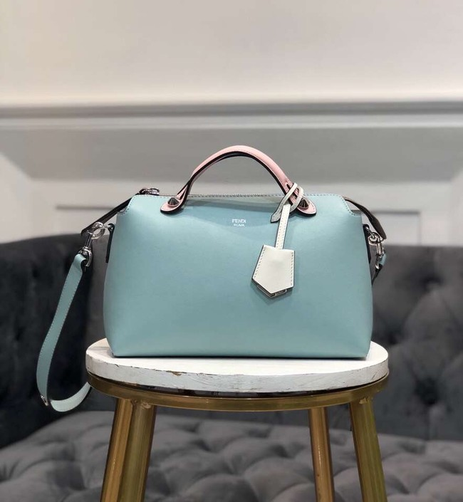 FENDI BY THE WAY REGULAR Small multicoloured leather Boston bag 8BL1245 green&pink