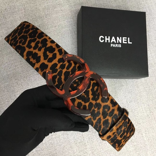 Chanel Wide leather belt with 53 mm CC4265 brown