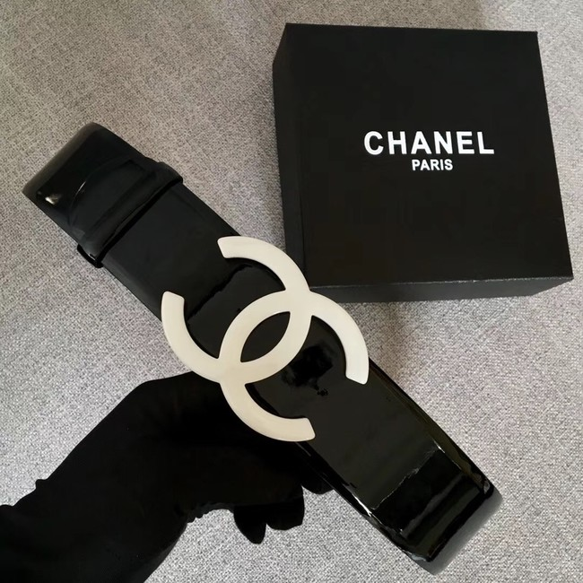 Chanel Wide leather belt with 53 mm CC4272 black