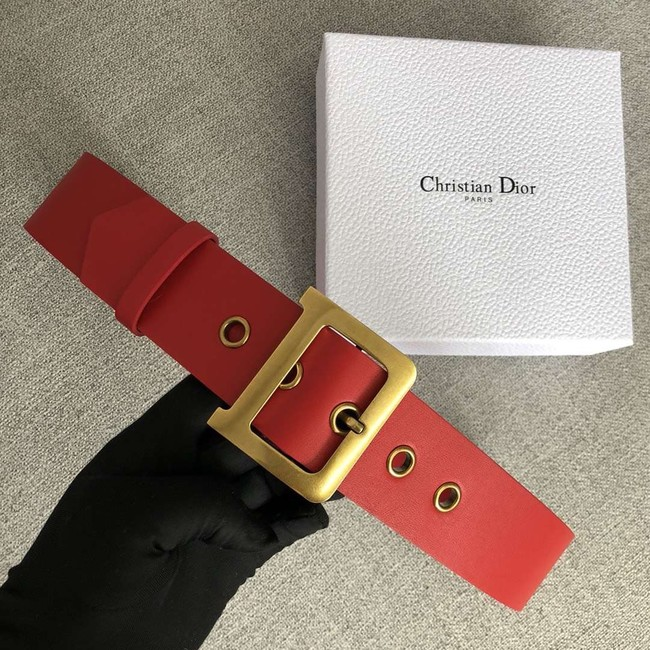 Dior Wide leather belt with 50 mm D4261 red