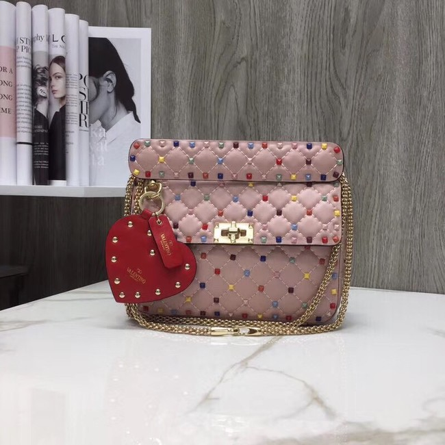 VALENTINO Quilted leather shoulder bag A45276 pink