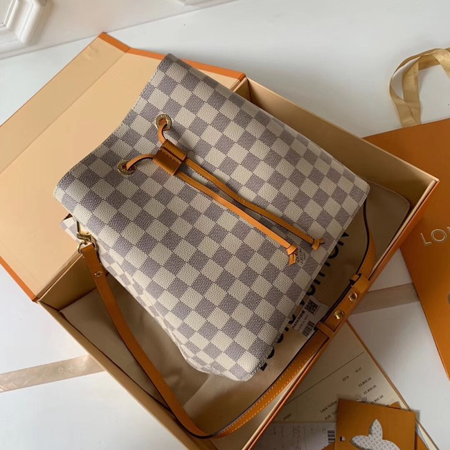 Louis vuitton original Damier Azur NEONOE N44022 yellow