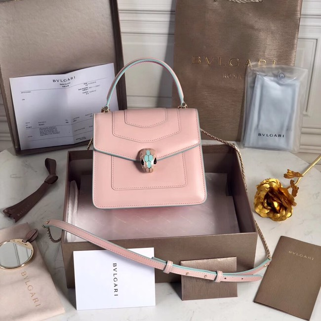 Bvlgari Serpenti Forever leather small crossbody bag 70736 Pink