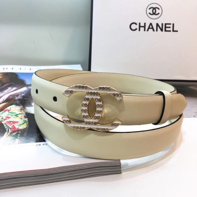 Chanel Calf Leather Belt Wide with 30mm 56594